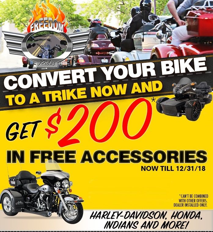 Convert Your Bike to a Trike at Freedom Rides in Lincoln, CA